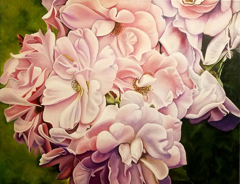 Everything's Coming Up Roses painting of roses by Jeanie Bates