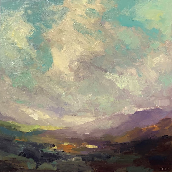 The Western Sky, Oil on panel
