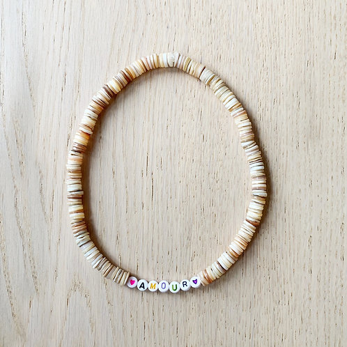 CANDY NECKLACE BEIGE / AMOUR