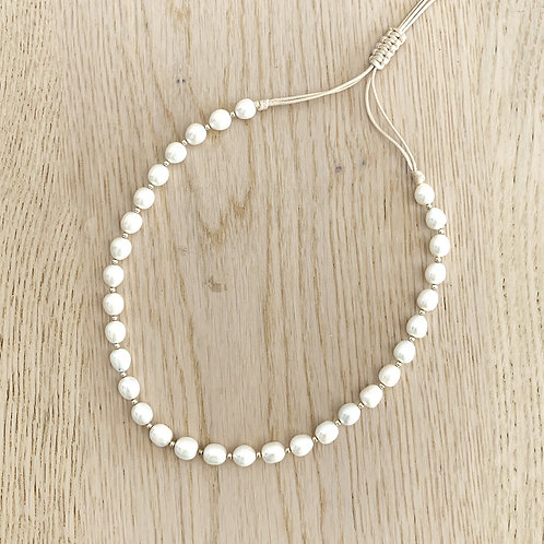 PEARL NECKLACE /OVAL