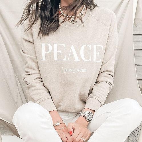PEACE SWEATSHIRT / BEIGE