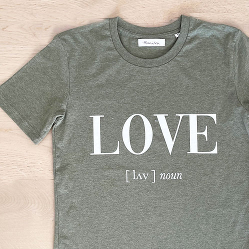 LOVE T-SHIRT / KHAKI