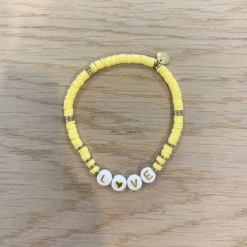 LOVE BRACELET / YELLOW