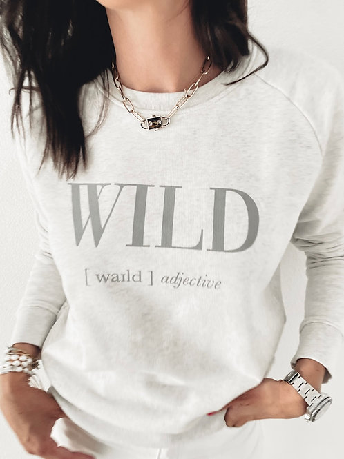 WILD SWEATSHIRT / LIGHT GREY