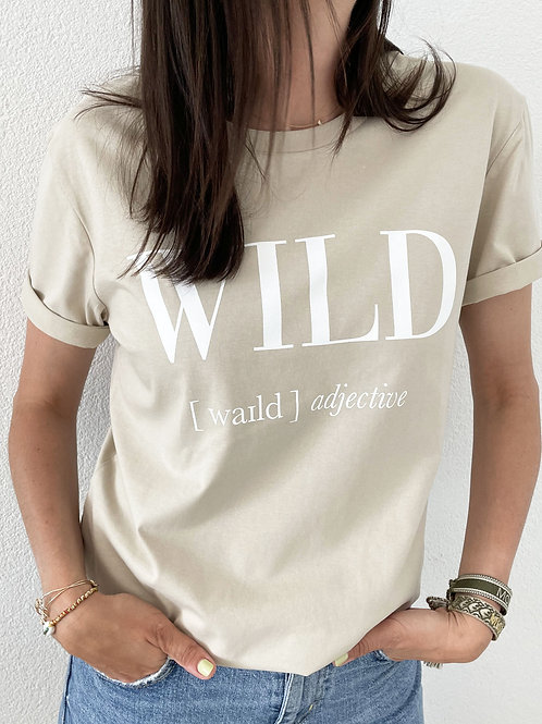 WILD T-SHIRT / SAND