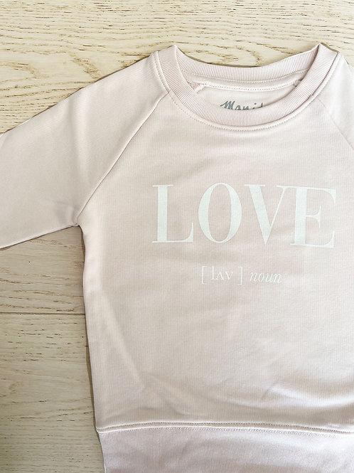 LOVE SWEATSHIRT / PINK /KIDS
