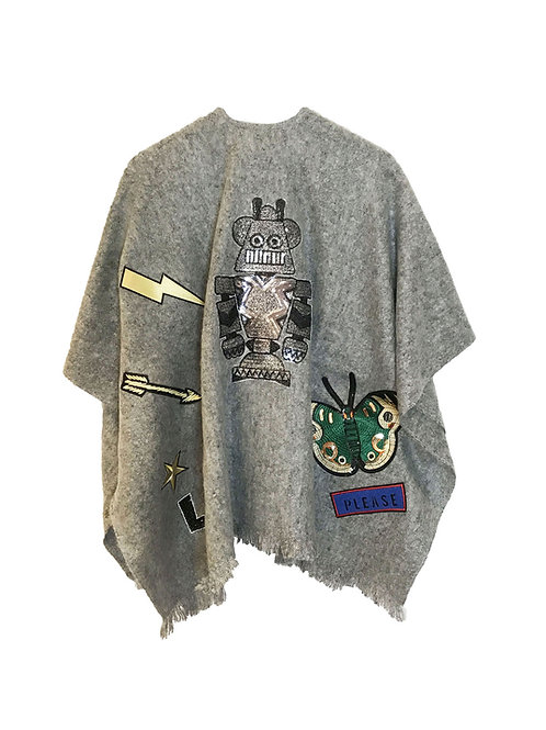 CITY PONCHO ROBOT / GREY