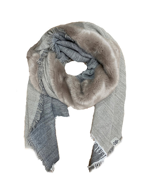INUIT SCARF FAUX FUR / TAUPE