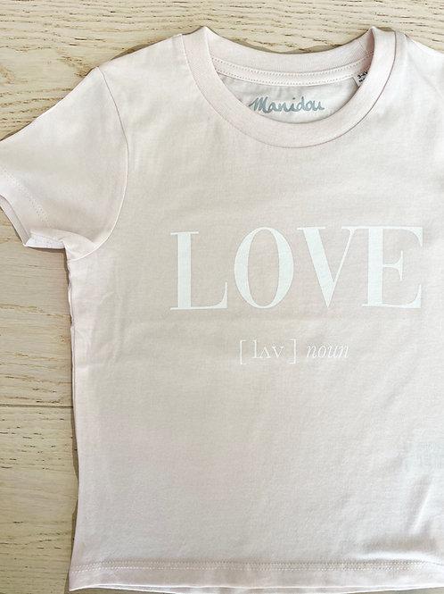 LOVE T-SHIRT / PINK 2 / KIDS