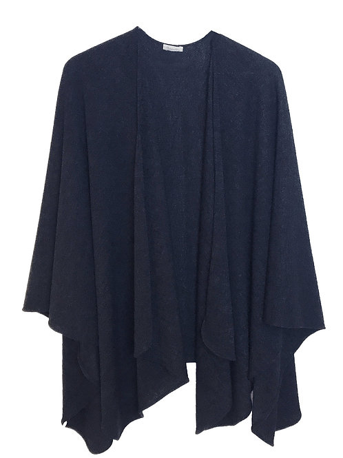 PARIS PONCHO /DARK BLUE
