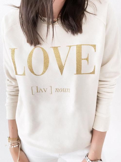 LOVE SWEATSHIRT / IVORY