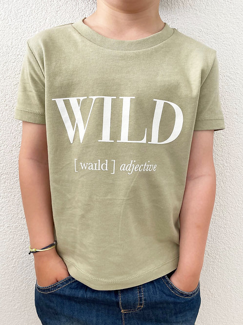 WILD T-SHIRT / GREEN / KIDS