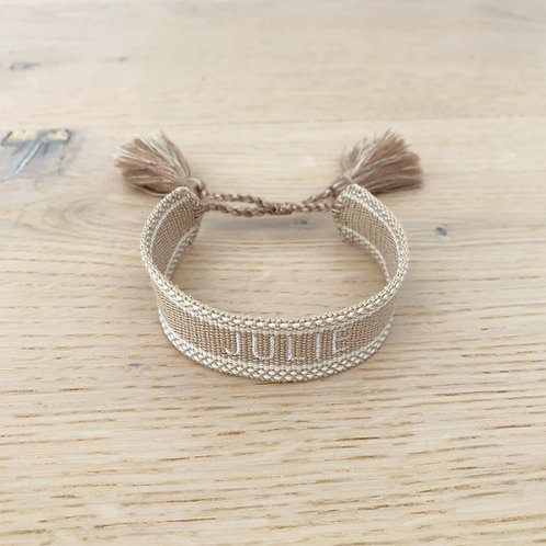 FRIENDSHIP BRACELET PERSONNALISABLE / BEIGE