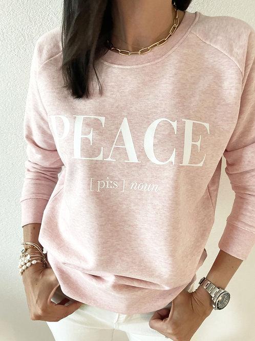 PEACE SWEATSHIRT /PINK