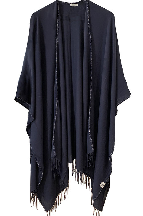 COPENHAGUE PONCHO /DARK BLUE