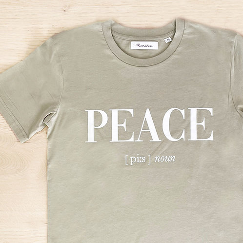PEACE T-SHIRT /GREEN