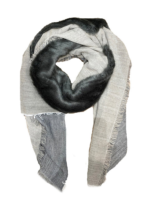 INUIT SCARF FAUX FUR / GREY