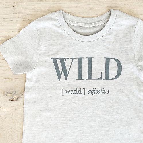 WILD T-SHIRT / LIGHT GREY / KIDS