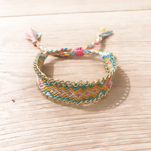 FRIENDSHIP BRACELET - YELLOW,TURQUOISE