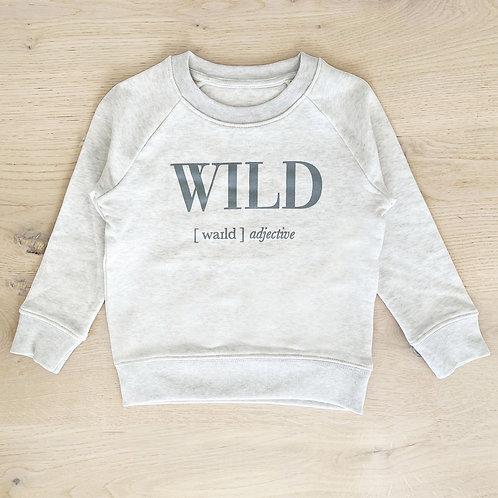 WILD SWEATSHIRT / LIGHT GREY /KIDS