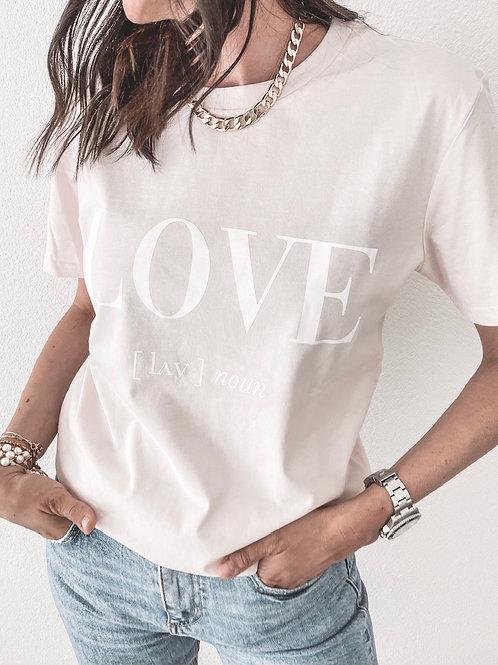 LOVE T-SHIRT /PINK