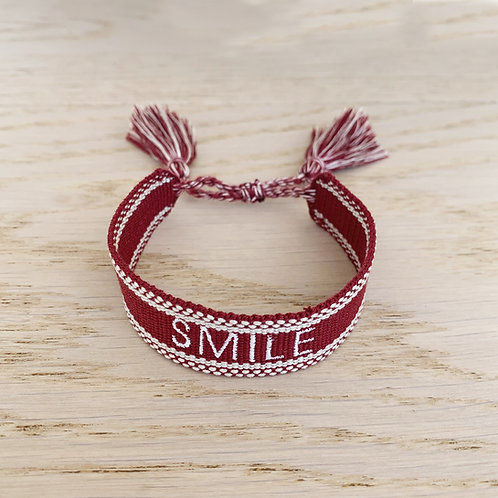 FRIENDSHIP BRACELET  PERSONNALISABLE / BORDEAUX