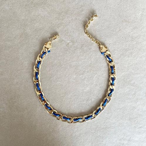 CHAIN NECKLACE /BLUE