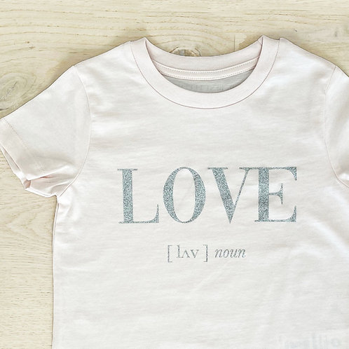 LOVE T-SHIRT / PINK / KIDS