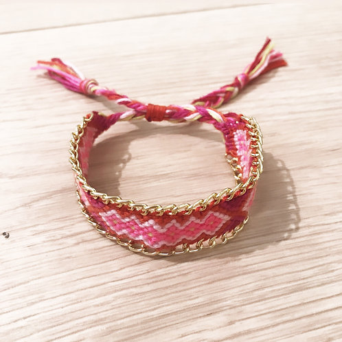 FRIENDSHIP BRACELET - PINK,RED