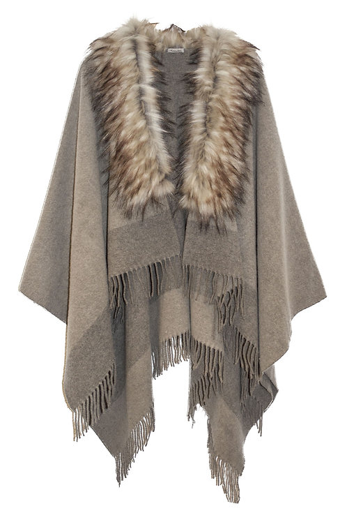 INUIT PONCHO / TAUPE