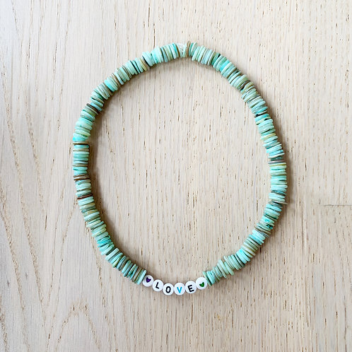 CANDY NECKLACE TURQUOISE /LOVE