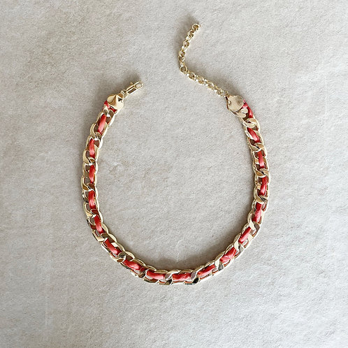CHAIN NECKLACE / CORAL