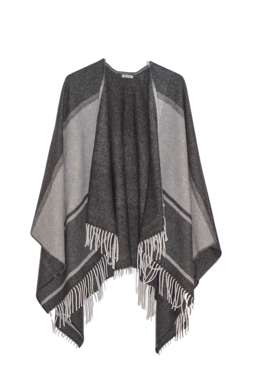 NOMAD Striped Wool Poncho