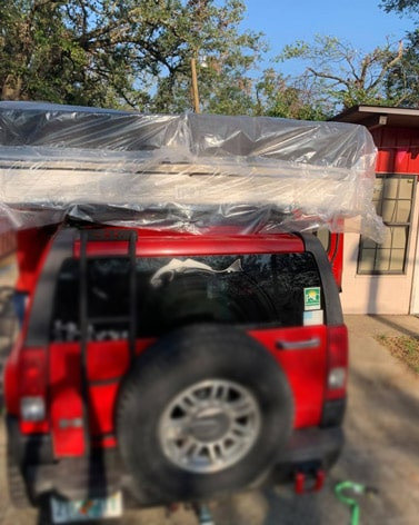 Mattress and box king size on the Jeep in Pensacola, Fl