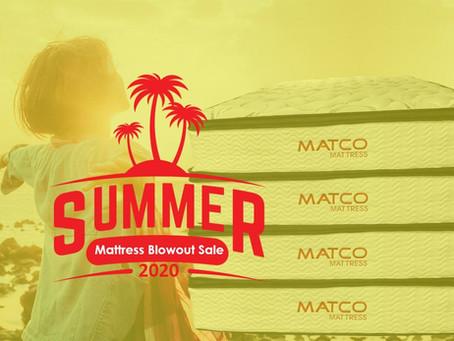 "LOCAL BIG SALE on ""Summer Mattress Blowout Sale"" at MATCO Mattress"