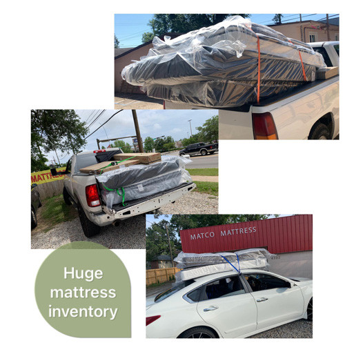 Matco Mattress has a huge inventory for mattresses and bed frames!