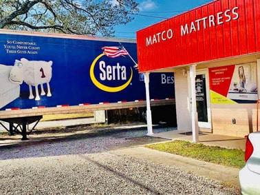 Serta truck at Matco Mattress store in Pensacola, Fl