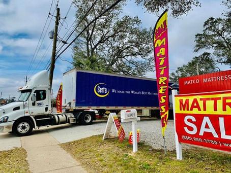 Who sells Serta mattresses in Pensacola?