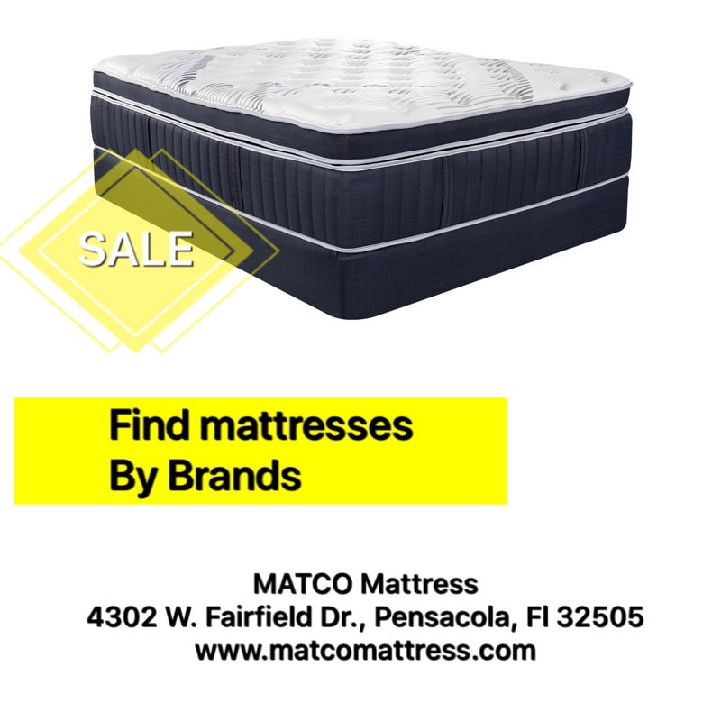 Find mattresses by brands in Pensacola, Florida