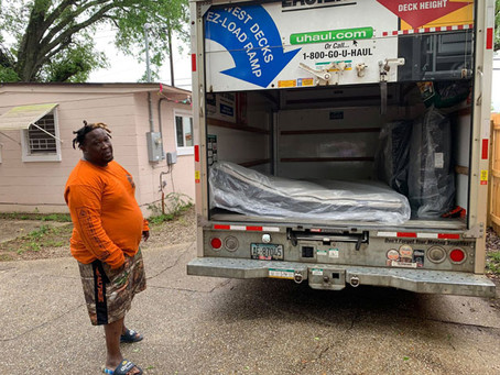 Mattresses are ready to go to Pensacola-Ferry Pass-Brent area