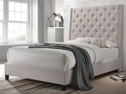 Crown Mark Chantilly Khaki Velvet Bed