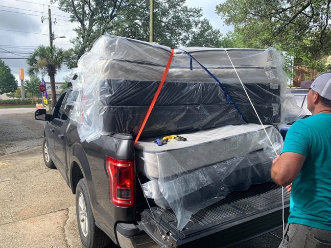 Mattresses and Box springs ready to go in Gulf Shores, Alabama