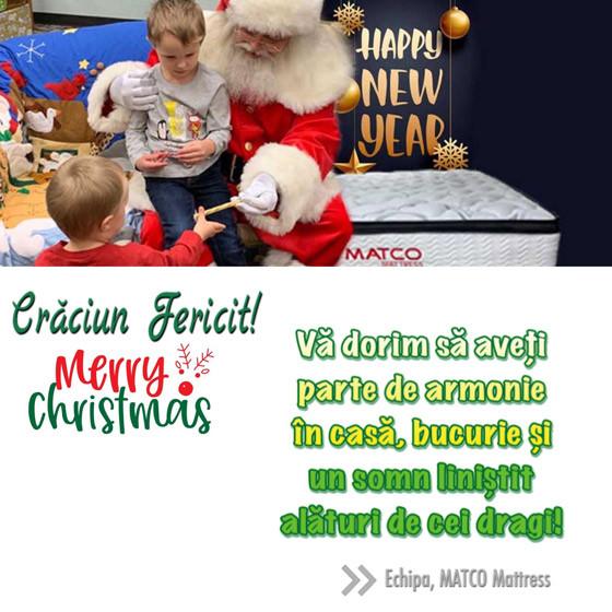 Echipa MATCO Mattress vă urează un crăciun fericit!