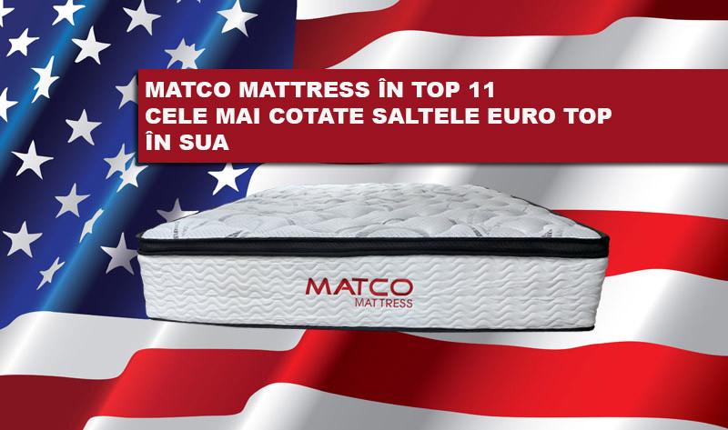 """Brandul moldovenesc Matco Mattress – în top """"11 cele mai cotate saltele Euro top 2021 din SUA"""