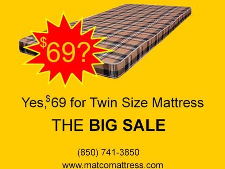 Mattresses for 69$ - LABOR DAY SALE 2020