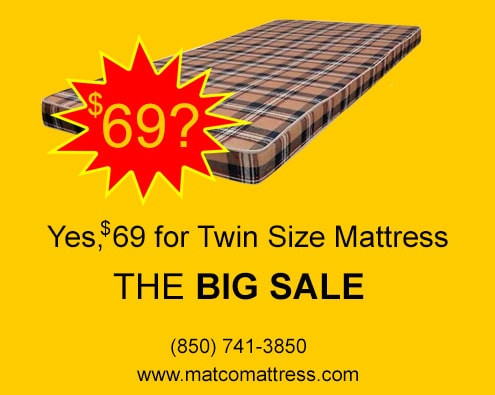 Mattresses on sale at LABOR DAY 2020 - Pensacola, Florida!