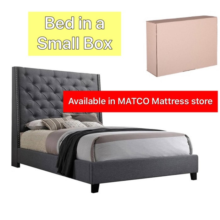 Bed + Headboard in a small box