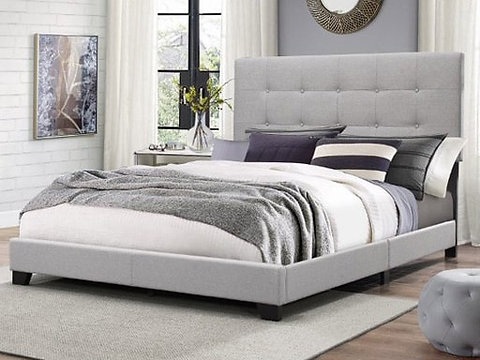 Upholstered Bed FL70 Gray Bed
