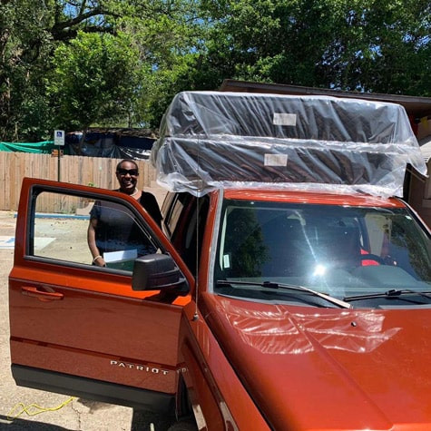 Mattress set pick up from mattress store