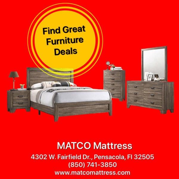 Shop Bedroom Furniture in Matco Mattress store!